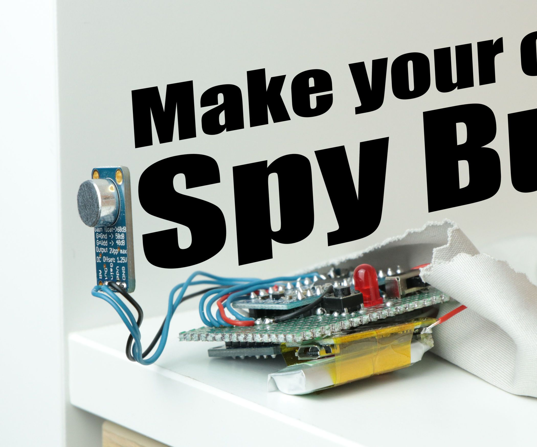Make Your Own Spy Bug (Arduino Voice Recorder) | Spy bug, Arduino ...