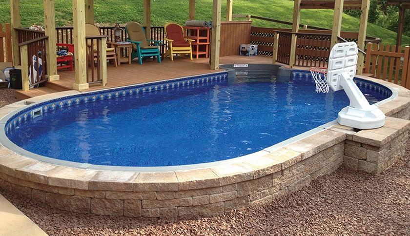 Semi Inground Pools Prices Nazemnye Bassejny Bassejny Na Zadnem