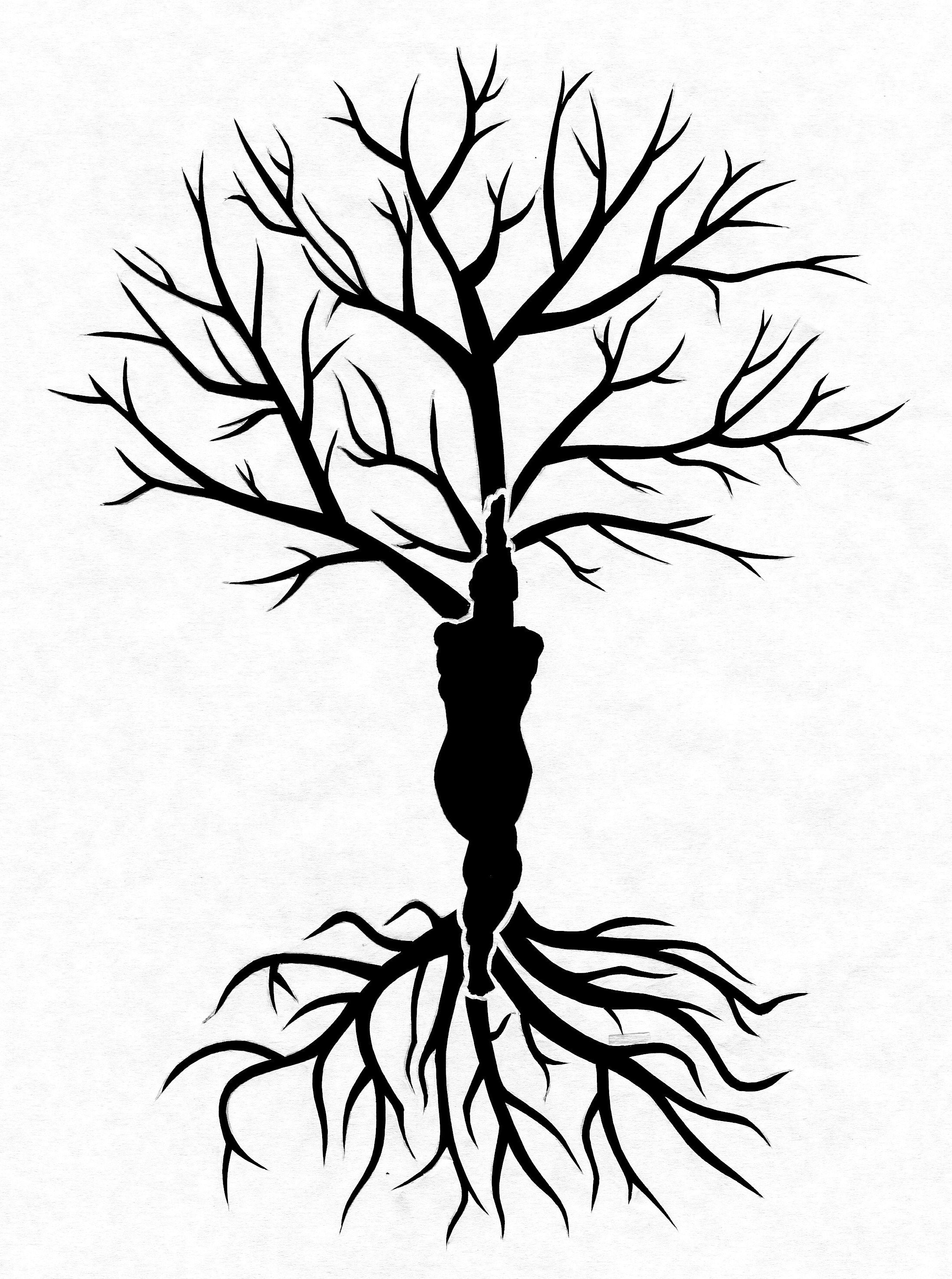 Yoga Eagle Pose Tree Of Life Stencil I Designed For Helen