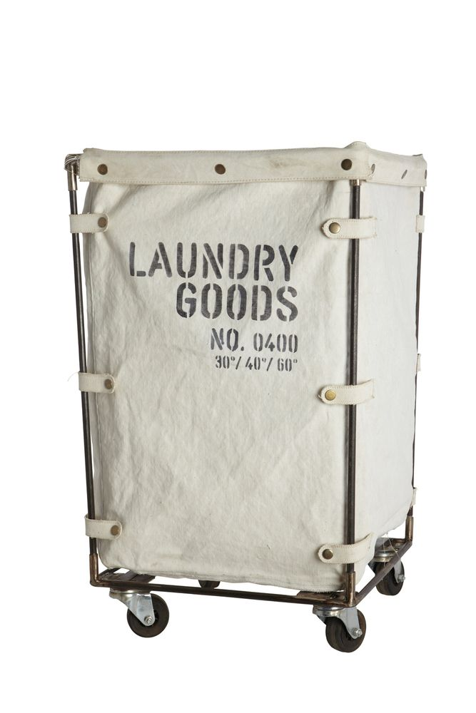 Tough Laundry Basket Trolley With Sy Canvas Bag This By House Doctor Is Off White And Features A Black Text Printing