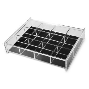 Suesh Acrylic Jewelry Box With 12 Divisions