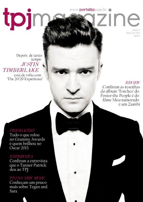 Capa da 1ª edição da revista com destaque de Justin Timberlake.  Lançamento: 18 de Março