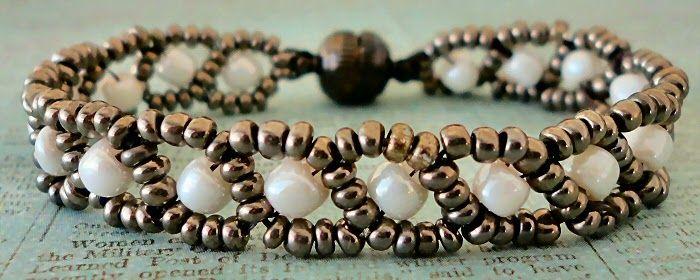Linda's Crafty Inspirations: Bracelets of the Day - Russian Snake Lakota Chain