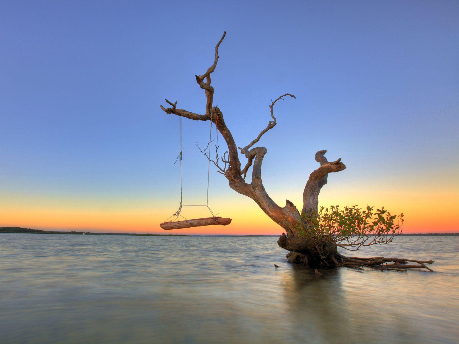 Relaxing at Rainbow Beach, Queensland, Australia