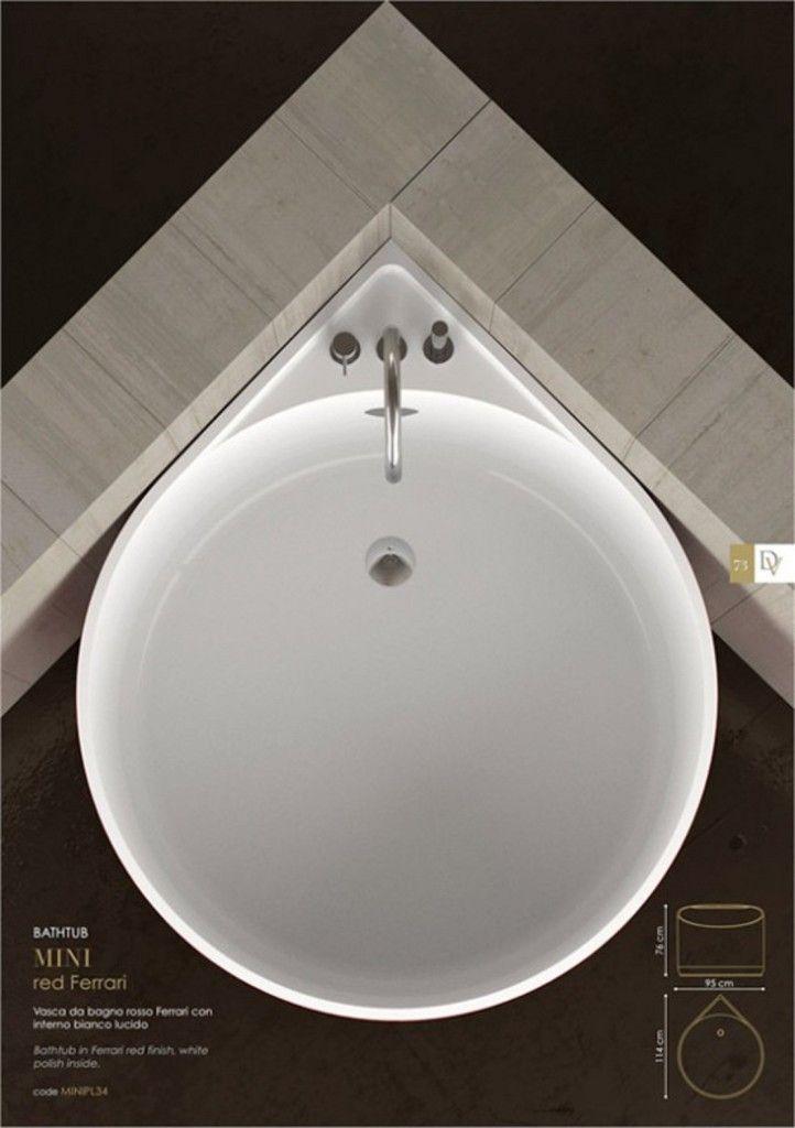 Mini Bathtub Of Fiberglass For Small Spaces 2