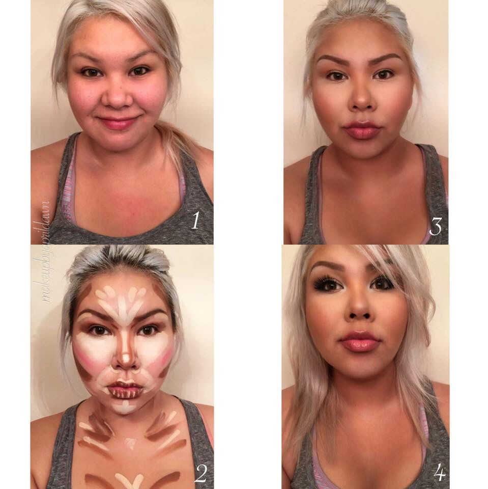 Contour before and after makeup transformation | Makeup in 2019