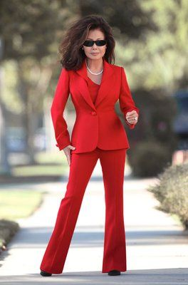 women suit redWomens red pant suit from Susanna Beverly Hills ...