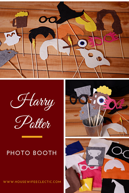 Harry Potter Photo Booth with a Cricut #lettercakegeburtstag