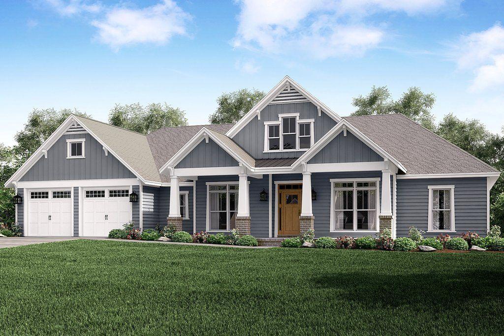 Frontier Lane House Plan #craftsmanstylehomes