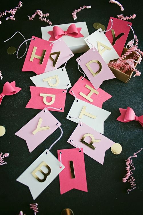 DIY Birthday Banner in a Box | like-the-cheese.com ...