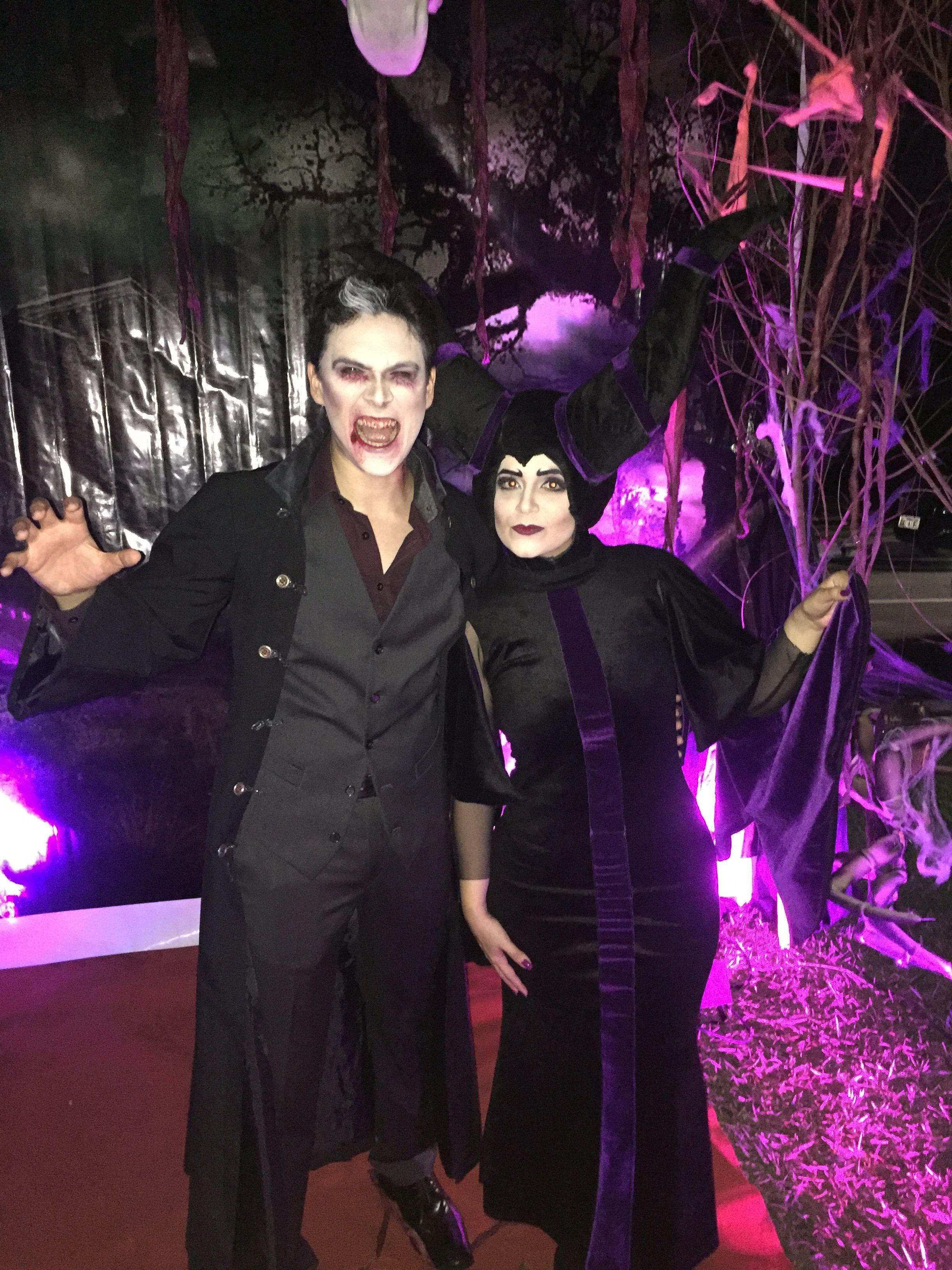 Vampiro e Malévola. Halloween