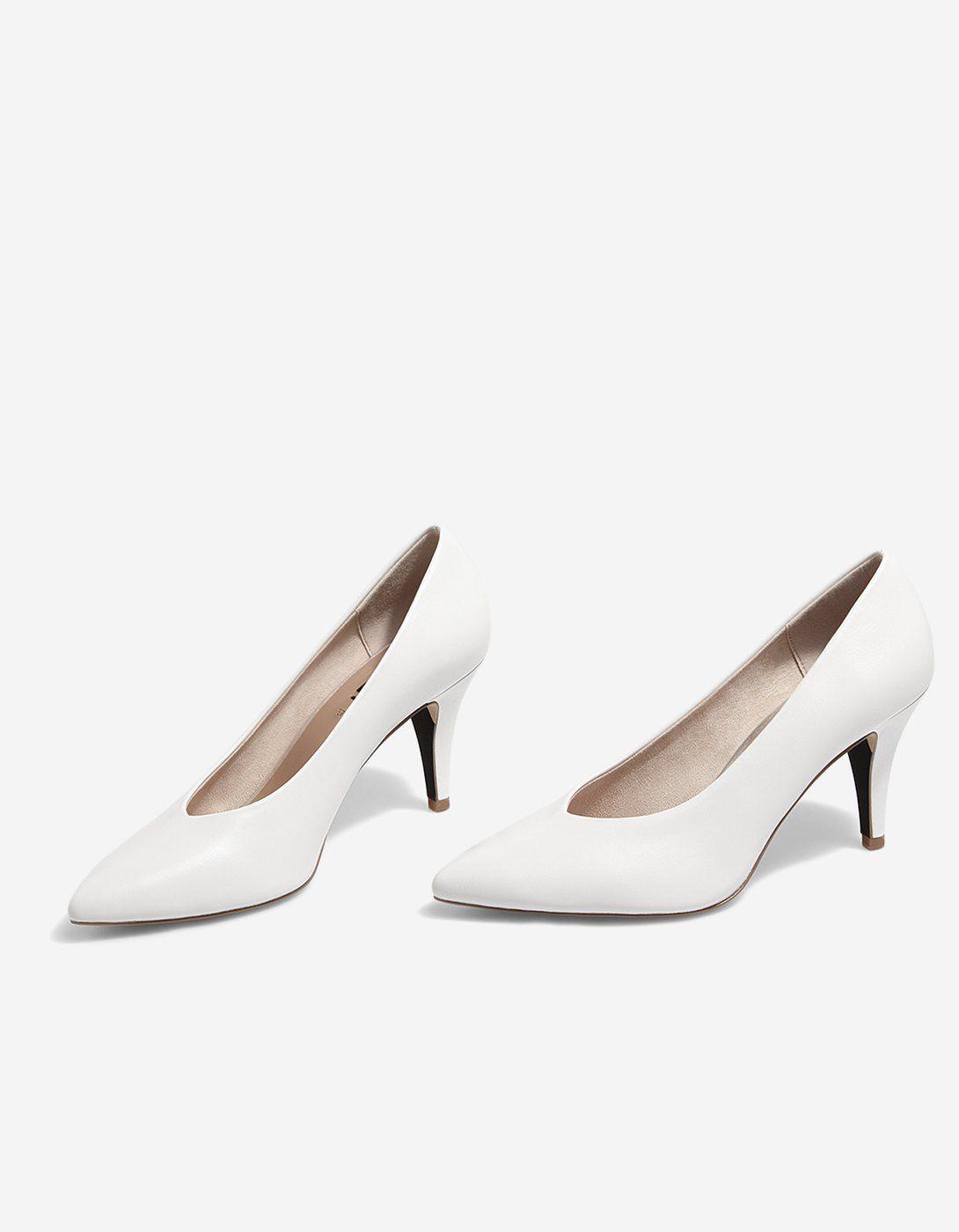 Salón tacón blanco Zapatos de tacón | Stradivarius España