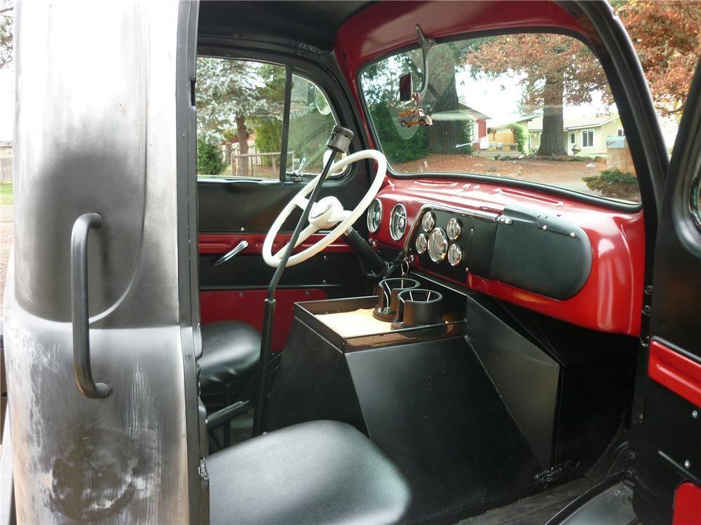 1949 ford coe custom pickup interior 138313 love old ford pickups pinterest ford. Black Bedroom Furniture Sets. Home Design Ideas