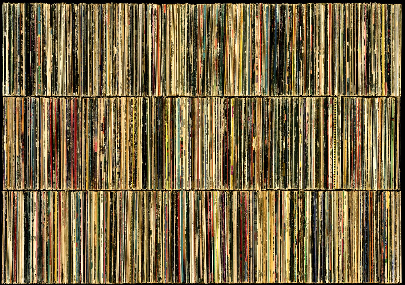 Wall Of Vinyl Artwork I Like This Better Than The Record Covers Under Plastic Because Of The Muted Colors And Because It S Vinyl Artwork Artwork Wall Of Sound