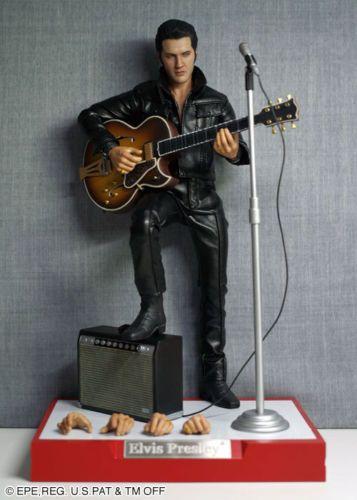 Royal Bobbl Elvis Bobblehead 1968 Comeback Special Edition Black Leather