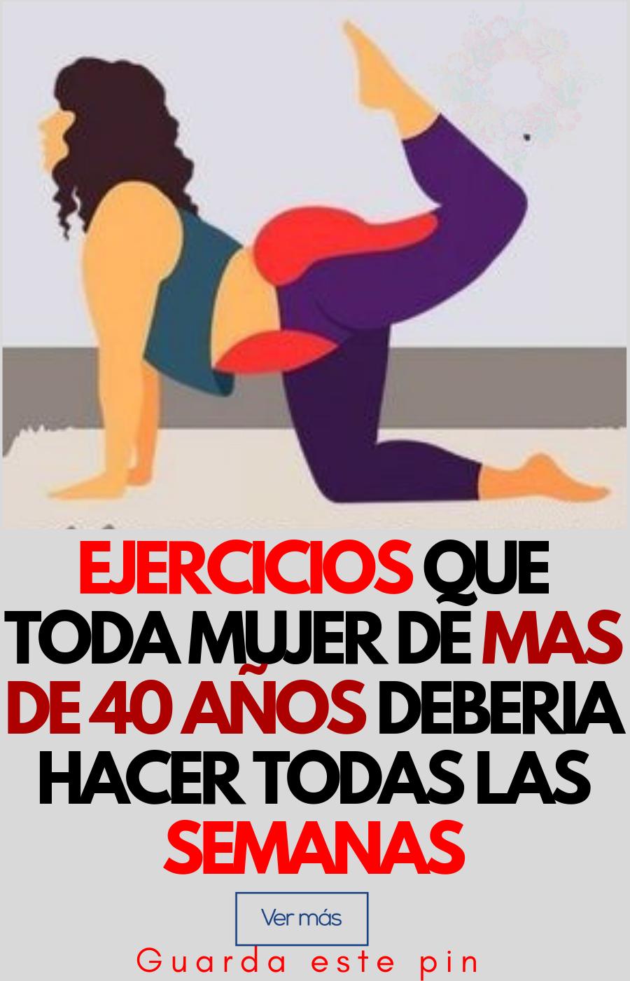 rutina de ejercicios para bajar de peso mujeres de 40 años