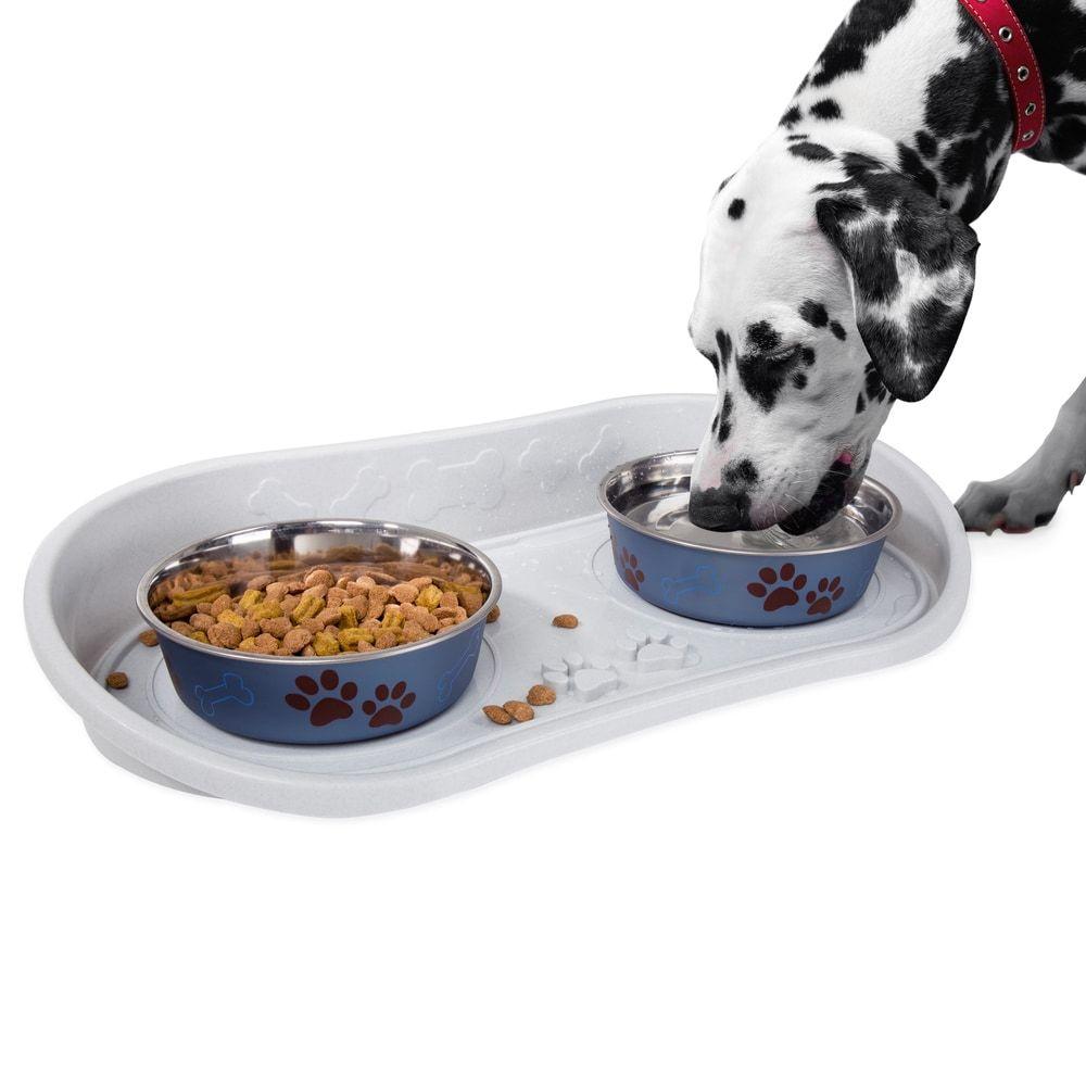 Petmaker Non Skid Cat Or Dog Bowl Tray Non Skid Pet Bowl Tray