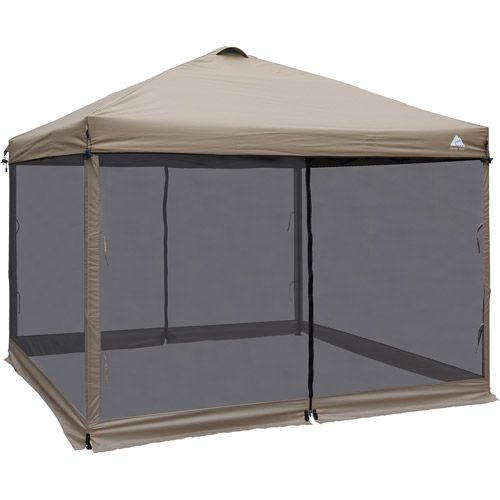 Shelter Ozark Trail 10 X 10 Mesh Screen Tan Camping Canopy Screen Tent Ozark Trail
