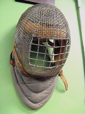 @fencinguniverse : Antique 1800's Metal Wire Fencing Helmet Mask Wool filled Canvas & Leather  $99.99 (0 Bids http://aafa.me/1M3Eo0O http://aafa.me/21sn3QY