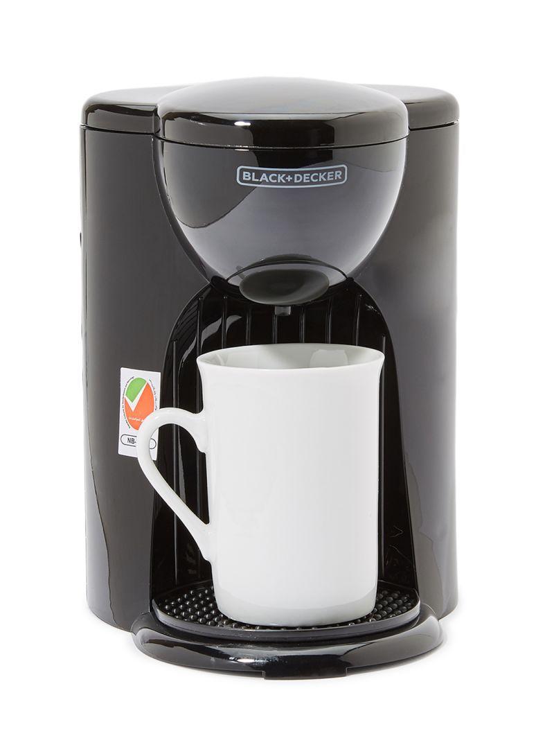 تسوق بلاك اند ديكر وماكينة صنع القهوة والإسبريسو بالتقطير سعة كوب واحد مع كوب بقدرة 330 وات Dcm25 B5 أسود أونلاين في الس 1 Cup Coffee Maker Coffee Coffee Maker
