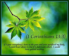 1 Corinthians 13:3 nlt