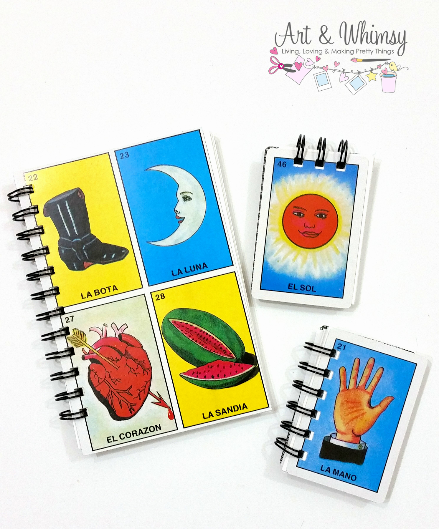 This week I've been working on these Lotería inspired