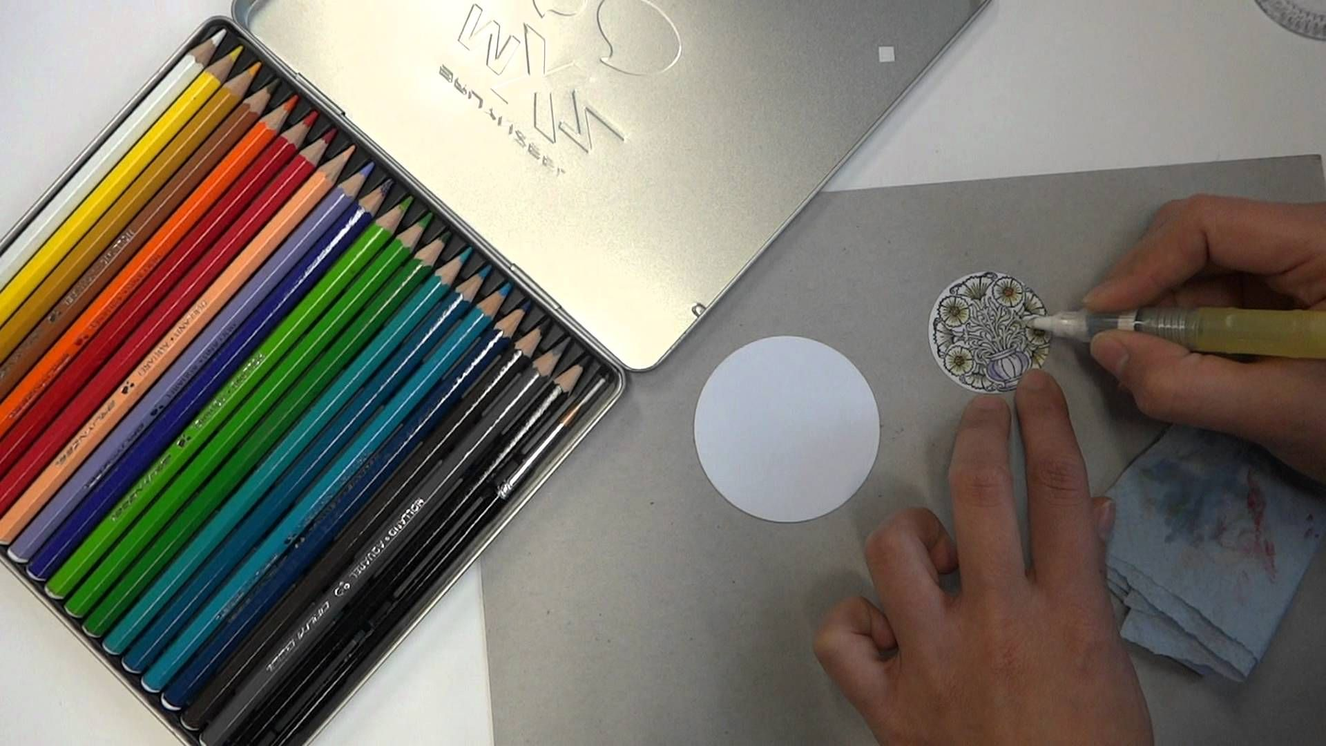 Kolorieren Mit Aquarellstiften Variante Ii Aquarell Stifte