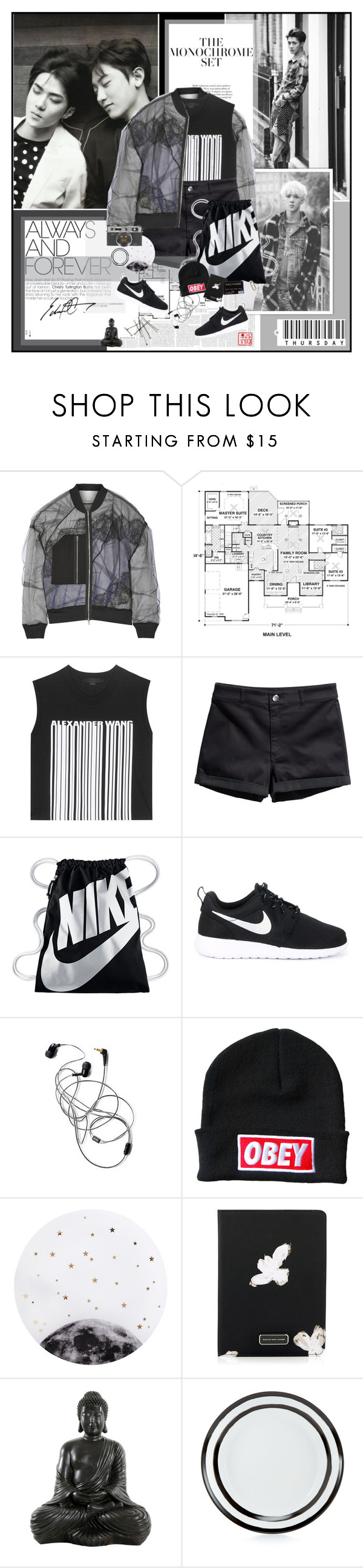 """Chapter 14: Wildest Dreams"" by summervintage ❤ liked on Polyvore featuring 3.1 Phillip Lim, Alexander Wang, H&M, NIKE, OBEY Clothing, Lollipop, Marc by Marc Jacobs, Martha Stewart and bathroom"
