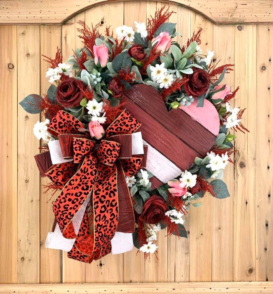 Valentine Wreaths For Your Front Door In 2021 Valentine Day Wreaths Valentine Wreath Door Decorations