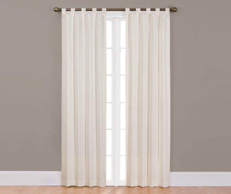 Ellery Homestyles Colorado Tab Top Curtain Panel Pairs Natural