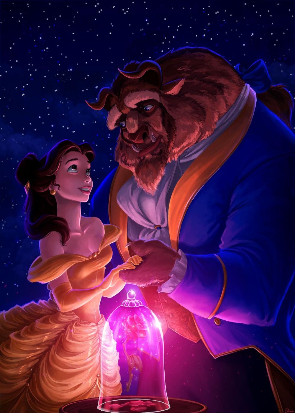 Beauty and the Beast by elaina-f on DeviantArt