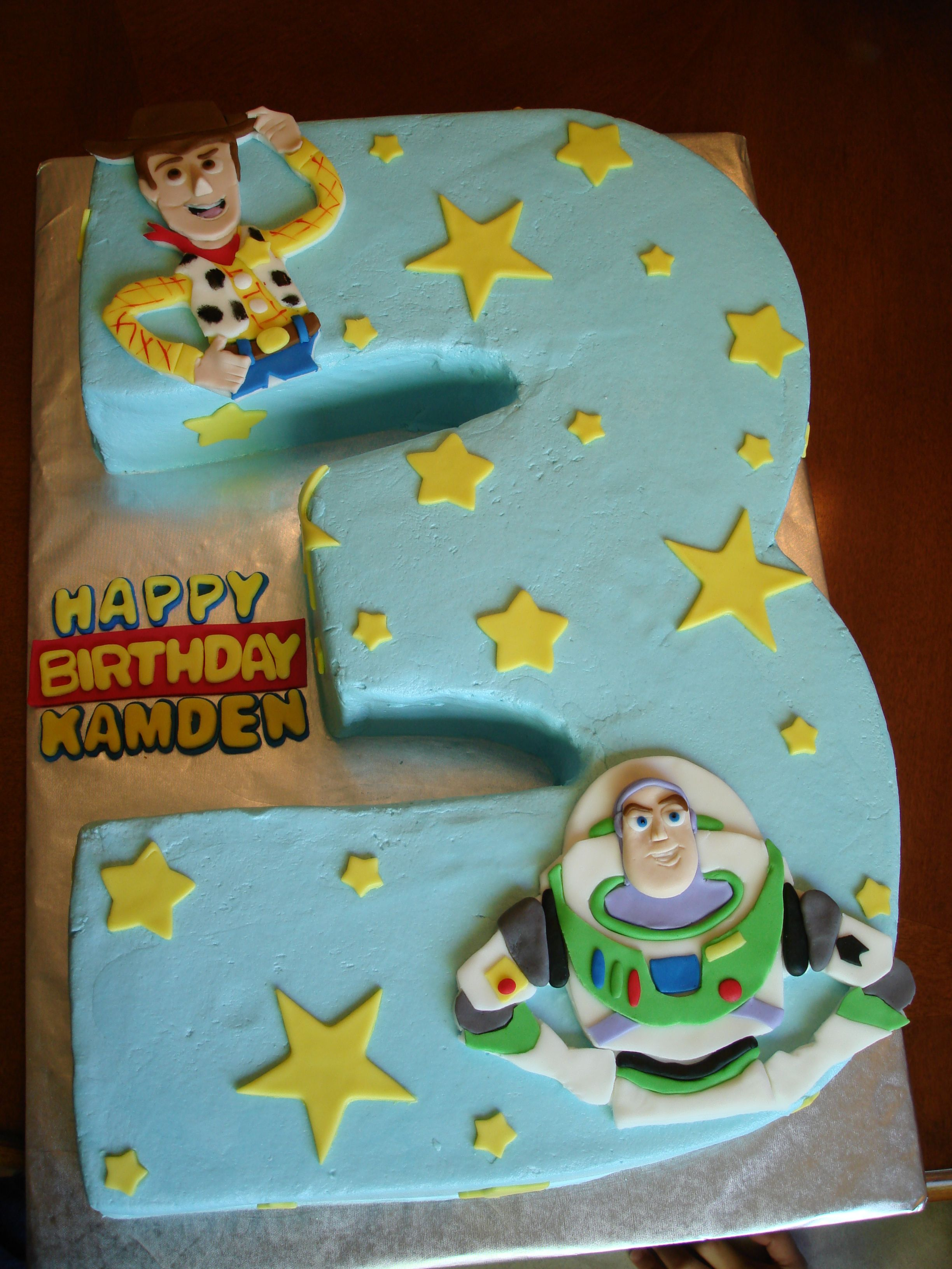Cool Buttercream Frosted Cake With Toy Story Fondant Designs Toy Funny Birthday Cards Online Elaedamsfinfo