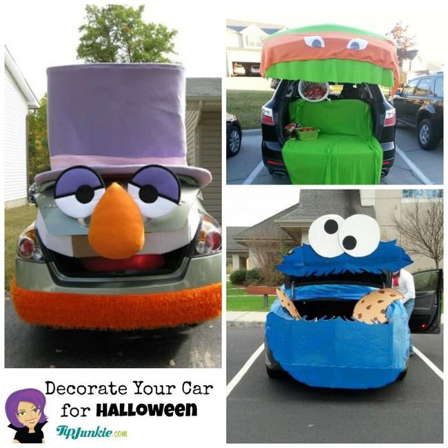 decorate your car for halloween and be the best car at trunk or treat