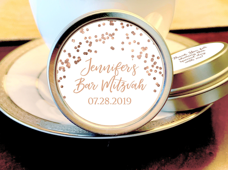 Rose Gold Bat Mitzvah Party Mint Tins - Bat Mitzvah Favors ...