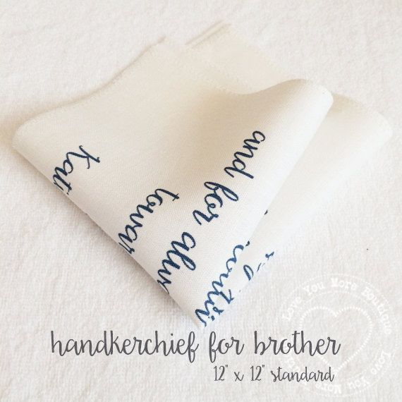 Special Wedding Gift For Brother : ... wedding handkerchief, gift for brother, gift for husband, personalized