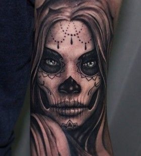 Sugar Skull Woman Tattoo Meaning