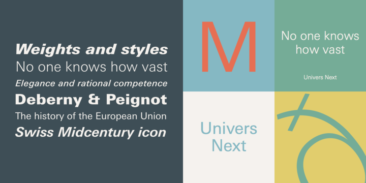 Univers Next (25% discount, from 59,25 | fonts discounts