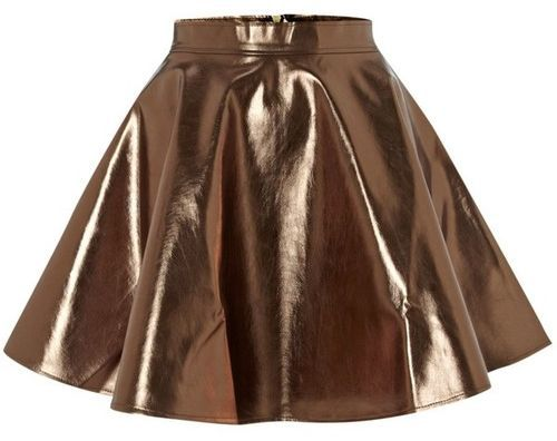 866411b574f5 Metallic Flared Party Skirt - 8 Fabulous Flared Party Skirts ... → Fashion