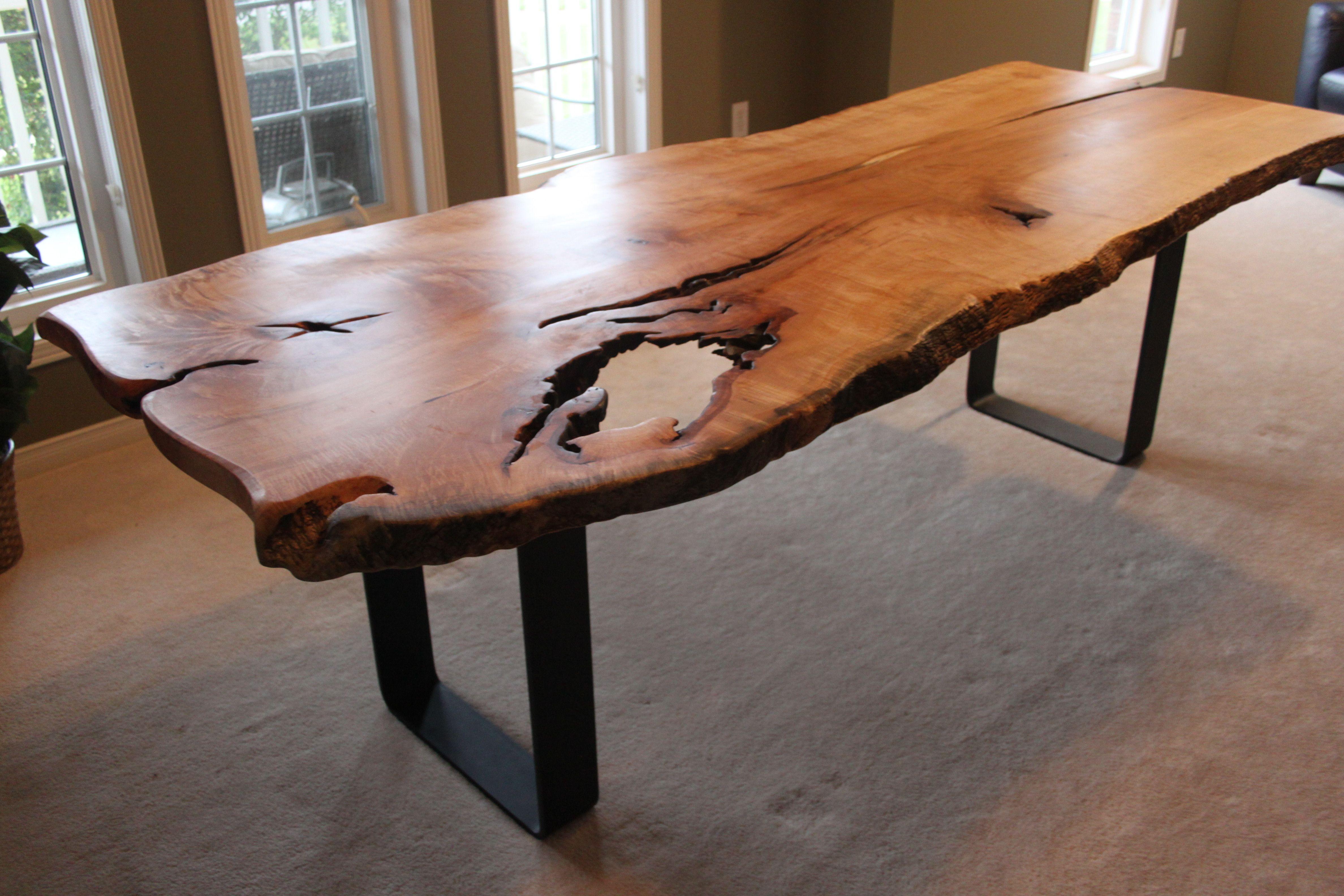 table liveedge edge walnut giant grant black diningtable dining bjorling live