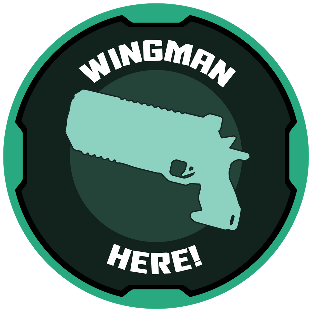 Apex Legends Sticker Wingman Here Sticker By Nickel2sulfate White Background 3 X3 Space Drawings Apex Legend [ 1000 x 1000 Pixel ]