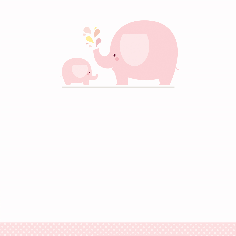 Pink Baby Elephant Free Printable Shower Invitation Template Greetings Island