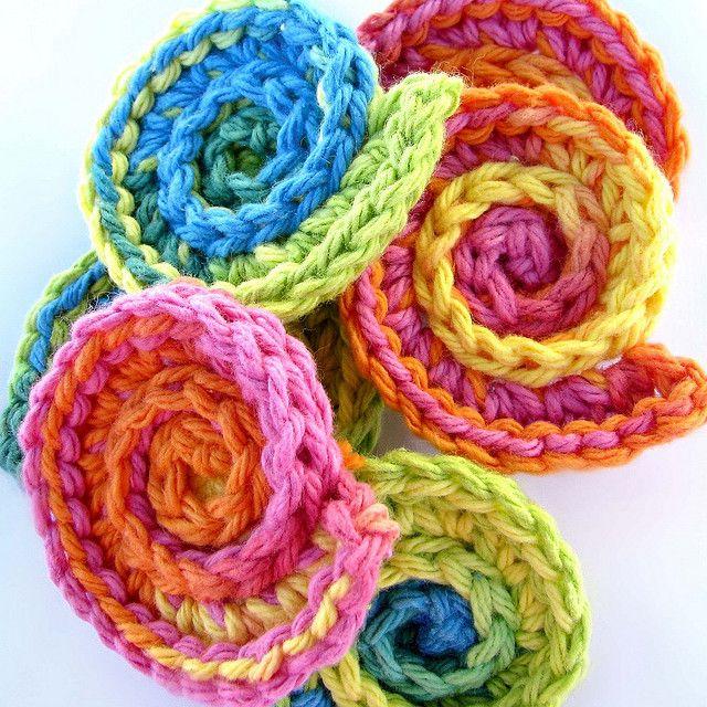 Crochet shell scrubbies by ketzl, via Flickr | Bordar | Pinterest