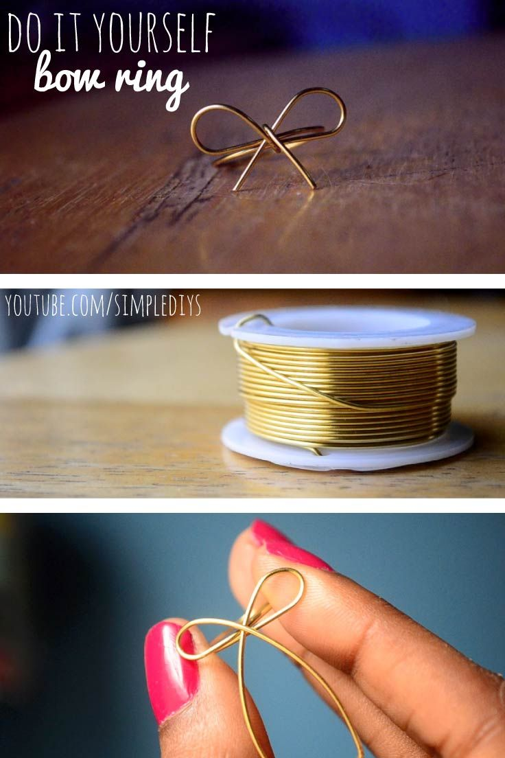 #DIY -- Learn how to make a bow ring from wire. Super simple! Pin now, watch later!