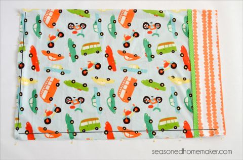 Burrito Style Pillowcase Stunning How To Sew A Pillowcase Burrito Style Pillowcase Pattern