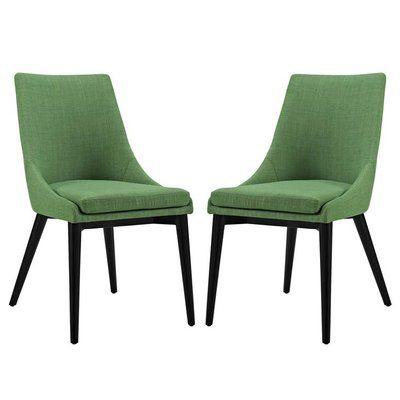 Corrigan Studio Carlton Dining Side Chair Upholstery Green