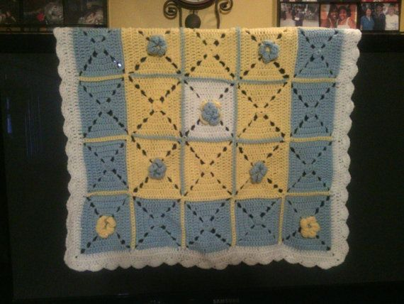 Check out this item in my Etsy shop https://www.etsy.com/listing/211285748/blooming-baby-boy-blanket
