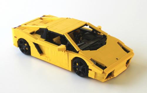 Yellow Lambow Lamborghini Gallardo Lego Cars Lamborghini