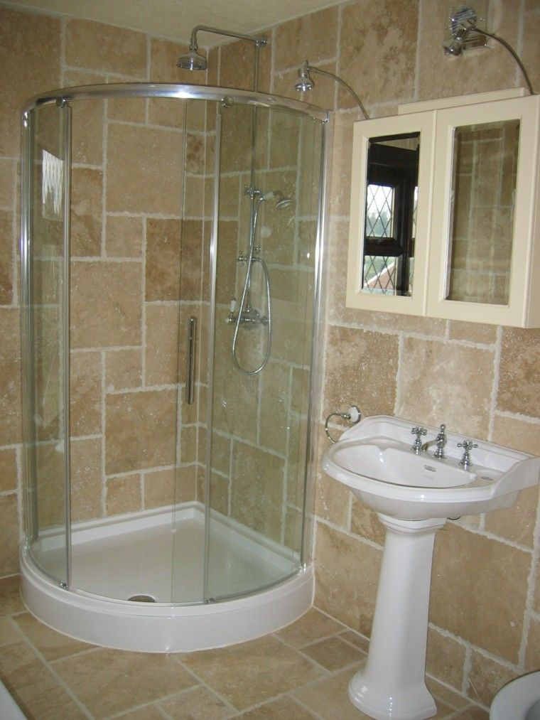 Ba os peque os con ducha 38 dise os de moda decoraci n pinterest small bathroom and kitchens - Disenos banos con ducha ...