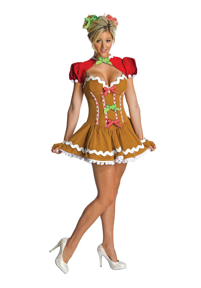 Christmas Fancy Dress Funny.Ladies Gingerbread Costume Fasching Christmas Costumes