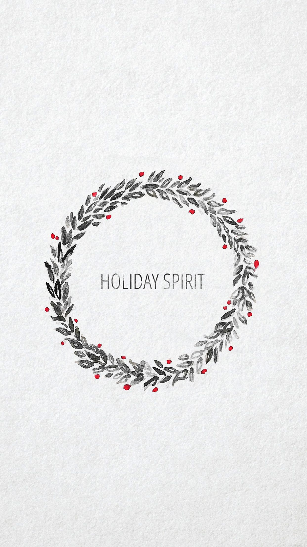 holiday spirit minimalist christmas art iphone 6 plus